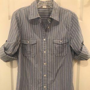 Women's J. Crew Roll Sleeve Perfect Fit Shirt